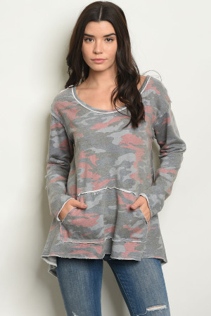 S12-9-5-T1192 GRAY CAMOUFLAGE TOP 2-2-2