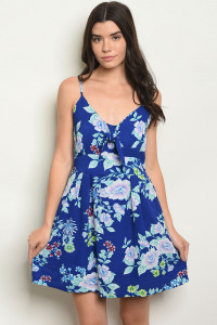 S2-7-2-D4359 ROYAL FLORAL DRESS 1-2-2-1