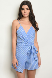 S23-13-3-D6019 BLUE STRIPES ROMPER 2-1-3