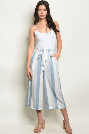 S17-9-4-P2001 BLUE STRIPES PANTS 1-1-1