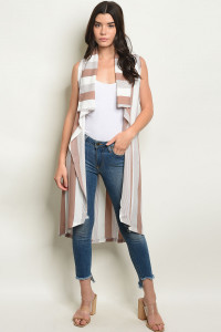 S20-7-4-V20021 MAUVE STRIPES VEST 2-2-2