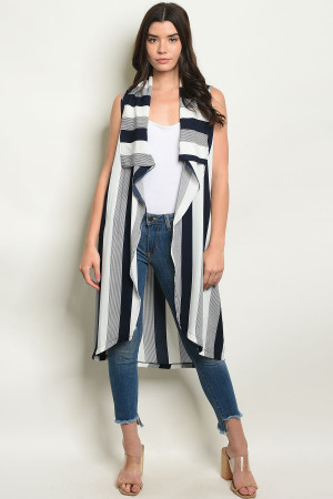 S19-7-1-V20021 NAVY STRIPES VEST 2-2-2