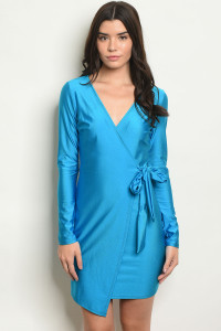 S10-9-2-D63606 TURQUOISE DRESS 1-2