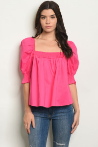 S18-10-5-T32452 FUCHSIA TOP 2-2-2