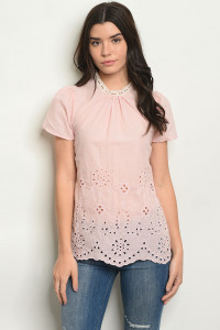 S10-6-3-T25651 PINK OFF SHOULDER TOP 2-2-2