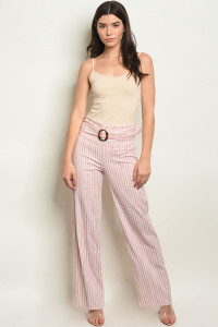 C34-A-5-P4416 PINK STRIPES PANTS 2-2-2