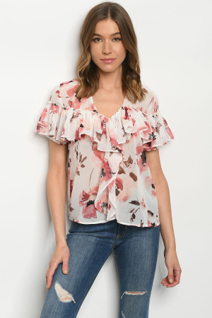S21-7-1-T1232144 OFF WHITE FLORAL TOP 2-2-2