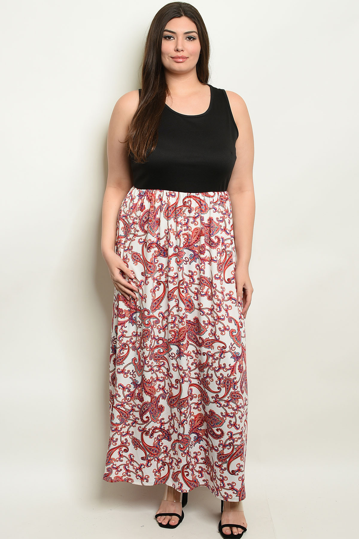 3cccbccfd436 ... BLACK RED PLUS SIZE DRESS 2-2- Larger Photo ...