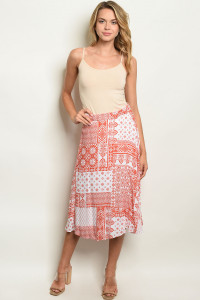 C14-A-7-S60166 CORAL WHITE SKIRT 2-2-2