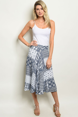 C27-A-1-S60166 NAVY WHITE SKIRT 2-2