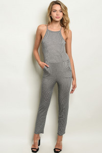 C16-A-5-J5458 BLACK OFF WHITE JUMPSUIT 3-2-1