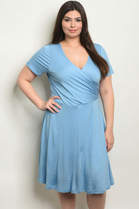 C38-A-3-D9895X BLUE PLUS SIZE DRESS 1-2-2-1