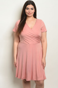 C34-A-7-D9895X MAUVE PLUS SIZE DRESS 1-2-2-1