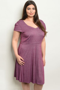 C43-A-1-D14940X PUPRLE PLUS SIZE DRESS 1-1-1-1