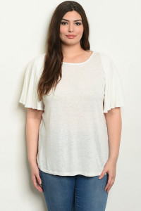 S9-7-3-T6083X WHITE PLUS SIZE TOP 1-2-2-1