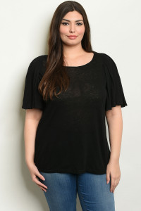 S9-6-4-T6083X BLACK PLUS SIZE TOP 1-2-2-1