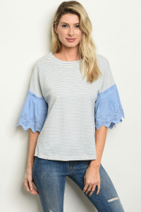 S12-4-1-T6087 BLUE STRIPES TOP 2-2-2