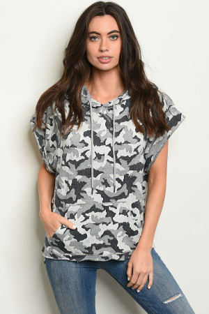 SA3-003-T0986 GRAY NAVY CAMOUFLAGE TOP 2-2-2