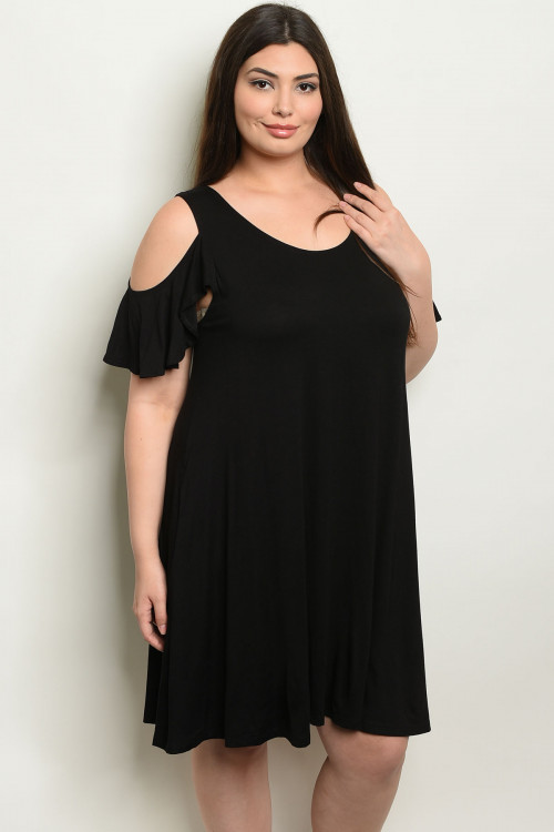C13-A-6-D1015X BLACK PLUS SIZE DRESS 2-2-2