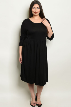 C3-A-3-D1065X BLACK PLUS SIZE DRESS 2-2-2