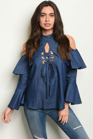 C45-A-2-T1944 DENIM TOP 1-2-2-1