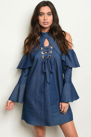 C33-A-3-D1945 DENIM DRESS 1-2-2-1