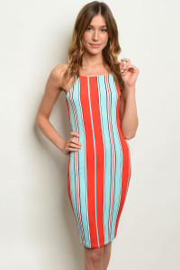 C83-A-2-D6992 RED STRIPES DRESS 2-2-2