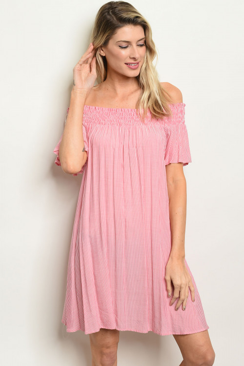 S11-6-2-D66129 PINK STRIPES DRESS 2-2-2