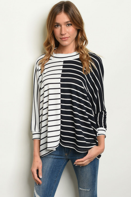 C10-B-5-T2756 NAVY WHITE TOP 2-2-2
