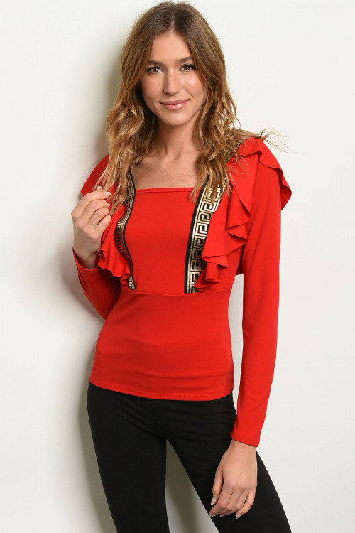 C4-B-2-T18365 RED GOLD TOP 2-2-2