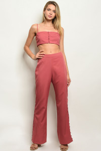 S24-3-2-SET5200 ROSE TOP & PANTS SET 3-2-1