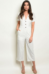 S15-3-3-J1535 OFF WHITE STRIPES JUMPSUIT 3-2-1