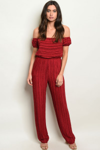 S14-6-1-J2730 BURGUNDY JUMPSUIT 3-2-1