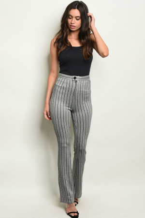 S16-10-2-P2232 GREY STRIPES PANTS 4-2-1