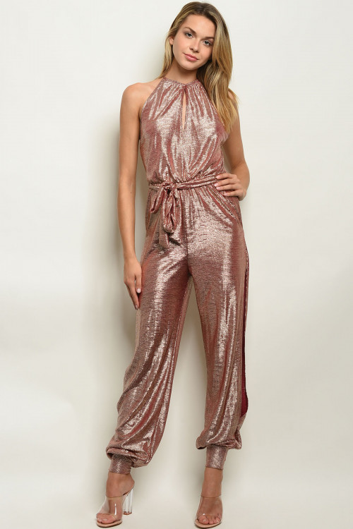C12-A-1-J50000 BURGUNDY GOLD JUMPSUIT 4-2  ***WARNING: California Proposition 65***