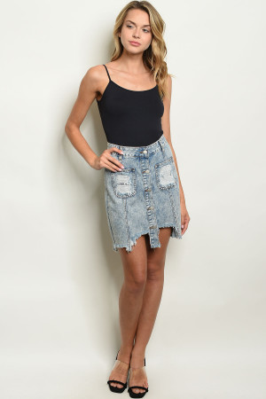 S16-8-4-S5296 DENIM SKIRT 2-2-2