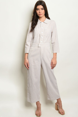 S22-13-1-J1208 TAUPE STRIPES JUMPSUIT 4-1