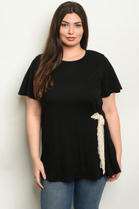 S17-7-5-T2081X BLACK PLUS SIZE TOP 1-1-1