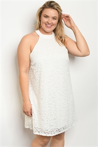 S17-7-3-D5020X WHITE PLUS SIZE DRESS 1-1-1
