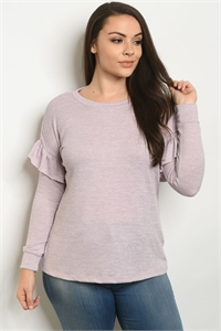 SA4-6-2-T33079X LAVENDER PLUS SIZE TOP 2-2-2