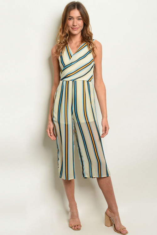 S4-7-3-J19986 CREAM BLUE STRIPES JUMPSUIT 2-2-2