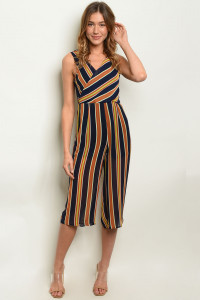 S17-7-3-NA-J19986 NAVY BRICK STRIPES JUMPSUIT 1-1-1