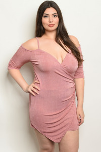Y-A-4-R8026X BLUSH PLUS SIZE ROMPER 2-2-2