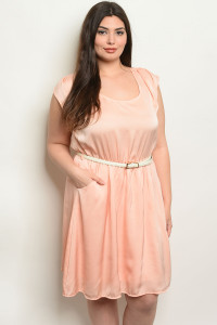 C96-A-7-D6786X PEACH PLUS SIZE DRESS 2-2-2
