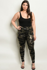 C86-A-2-L8376X BLACK GOLD CAMOUFLAGE PLUS SIZE LEGGINGS 2-2-2