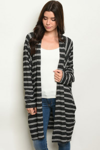 C50-A-3-C1003 BLACK STRIPES CARDIGAN 3-3