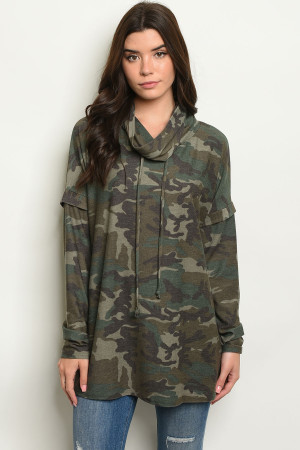 C43-B-3-T20309 OLIVE CAMOUFLAGE TOP 3-2-1