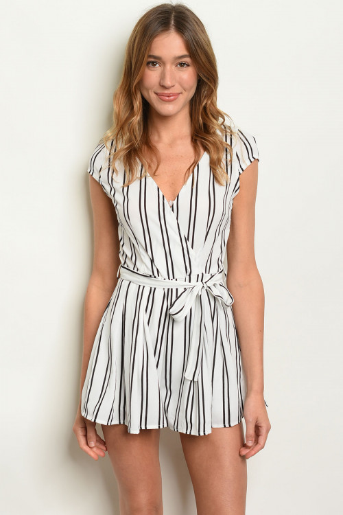 S4-7-4-R19446 OFF WHITE STRIPES ROMPER 2-2-2
