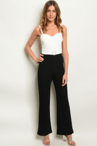 C9-A-3-J8979 BLACK WHITE JUMPSUIT 2-2-2
