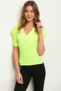 C92-B-7-T4539 NEON YELLOW TOP 2-2-2